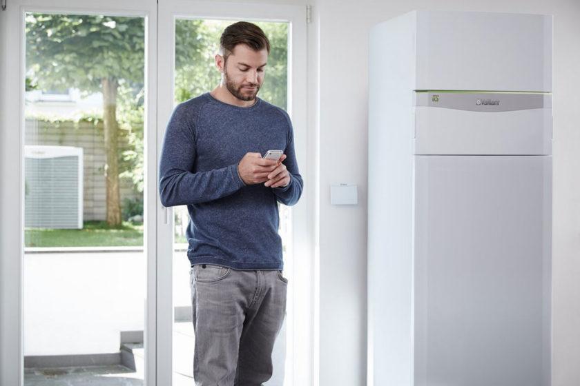Tepelné čerpadlo flexoCOMPACT exclusive s ovládaním cez smartfón