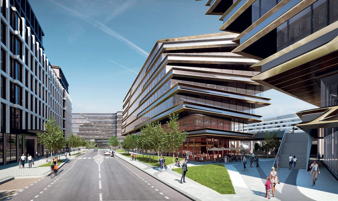 Masarykovo nádraží, Praha, ukončenie 2022 – 2025 Revitalizácia okolia tejto stanice chce vytvoriť nový pražský Central Business District. Bude sa realizovať vniekoľkých etapách a ponúkne až 100000 m2 nových kancelárskych plôch, obchodov, reštaurácií akaviarní. Vizulizácia: Penta Real Estate