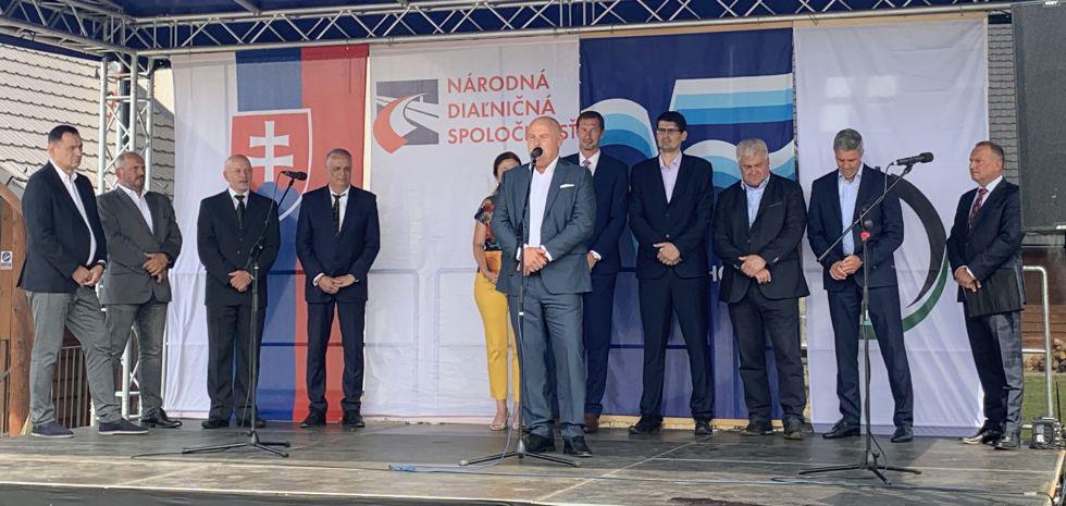 Slávnostné poklepanie základného kameňa obchvat mesta Prešov