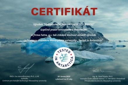 Fatra certifikát