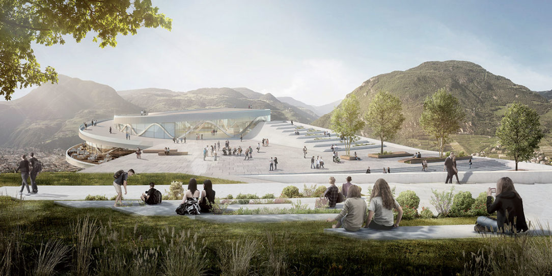 Kruhová strecha bude mať charakter živého verejného priestoru využiteľného na množstvo aktivít od otvorených trhov až po koncerty.