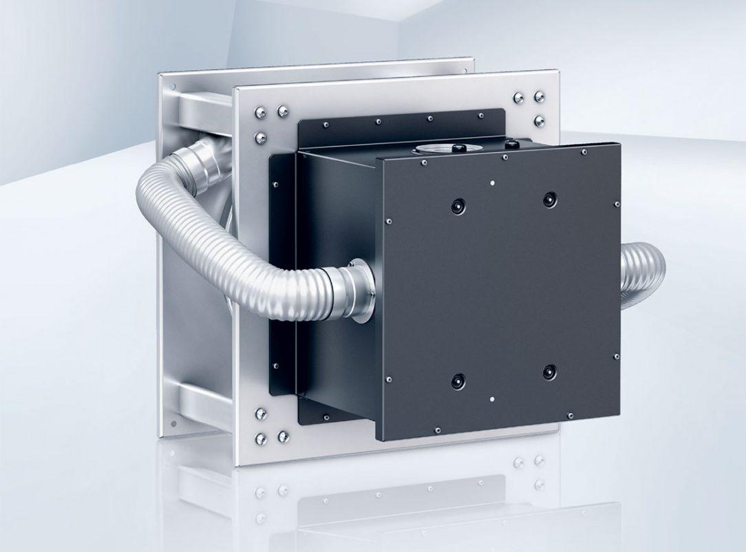 Špeciálne optimalizovaný ventilátor na odsávanie z kuchyne motor RadiPac bol izolovaný mimo prúdenia vzduchu.