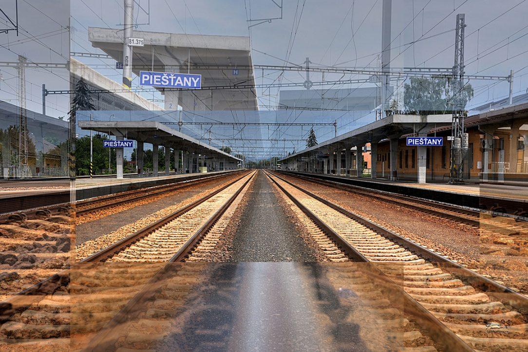 elezničné nástupisko v Piešťanoch