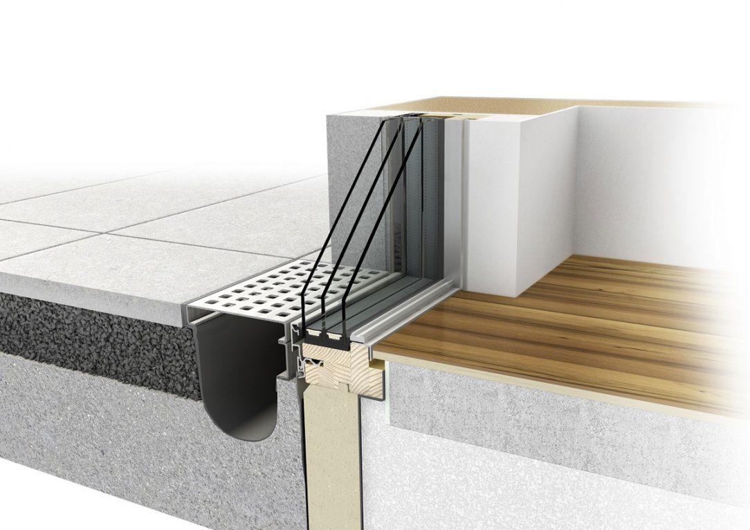 Bezrámový vzhľad a technologicky optimálne stavebné pripojenie Panorama okna HX 300