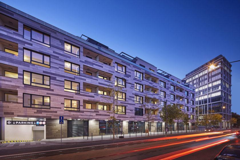 Fasade of 2.phase of Blumental Rezidencia from Radlinskeho street