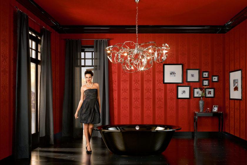 Kúpeľňa v štýle glamour