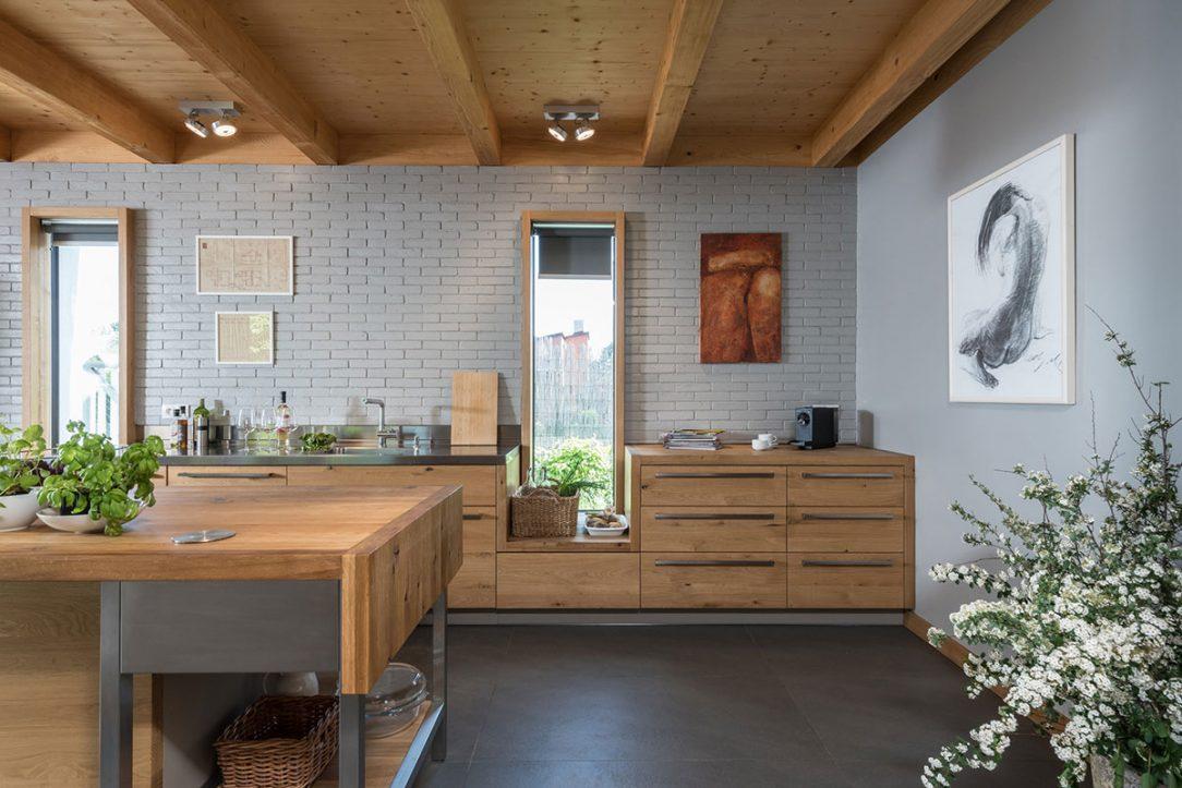Kuchyňa v modernej prístavbe