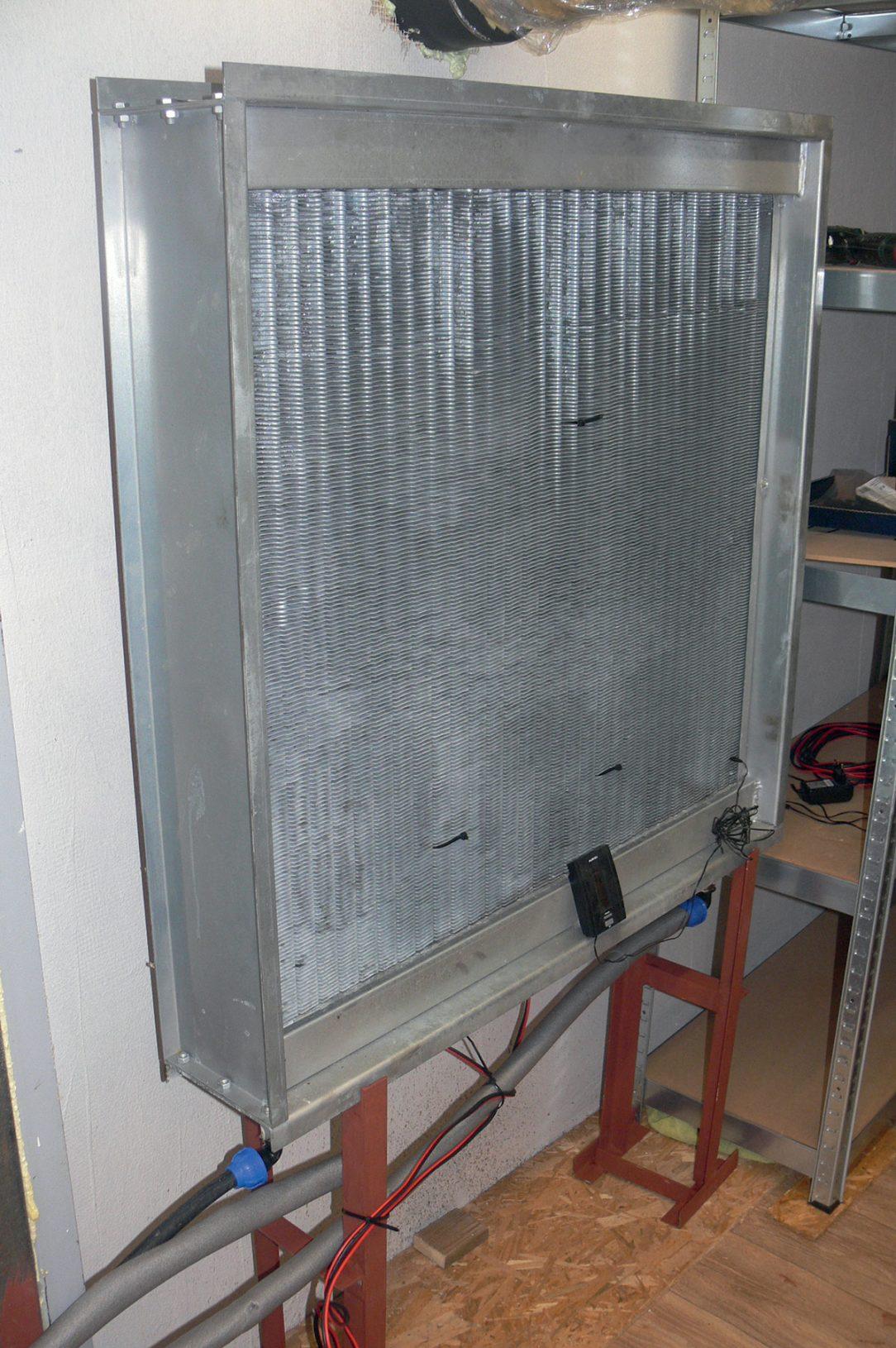 Obr. 1 Výmenník tepla na chladenie studňovou vodou