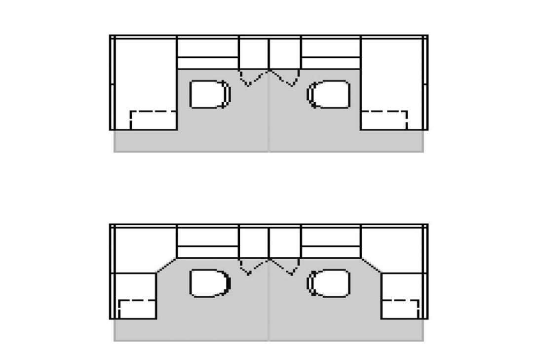 Obr. 2 Sčasti otvorené priestory
