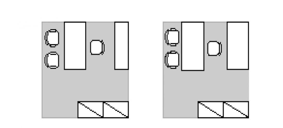 Obr. 3 Otvorené priestory
