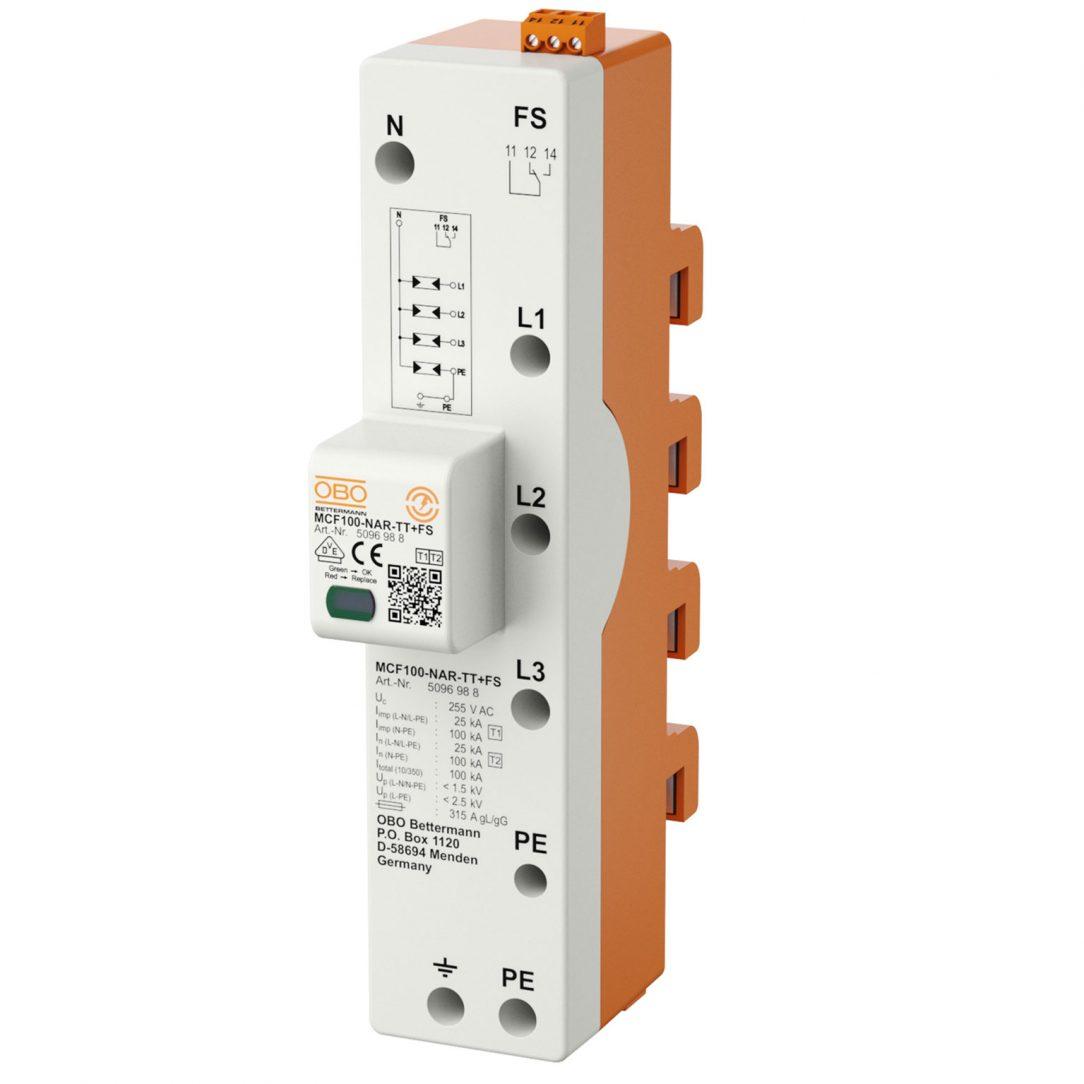 Prepäťová ochrana pre priamu montáž na systém prípojníc 40 mm