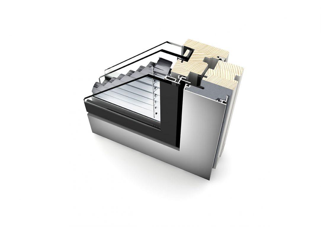 Rez Internorm zdvojeného okna HV350 dizajnový štýl