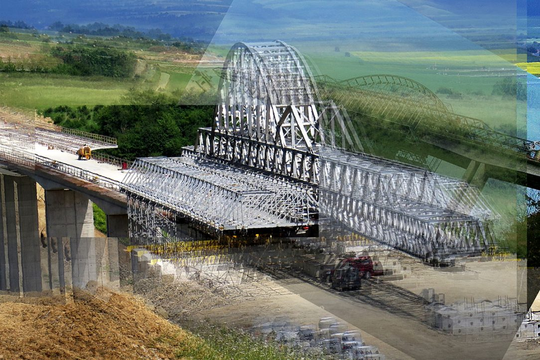 stavba mosta