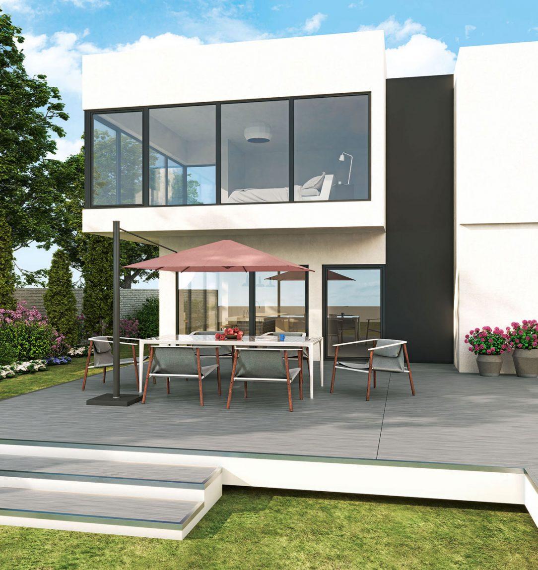 Vďaka špeciálnej technológii lepenia možno s profilom Elegante realizovať aj veľkoformátové okná.
