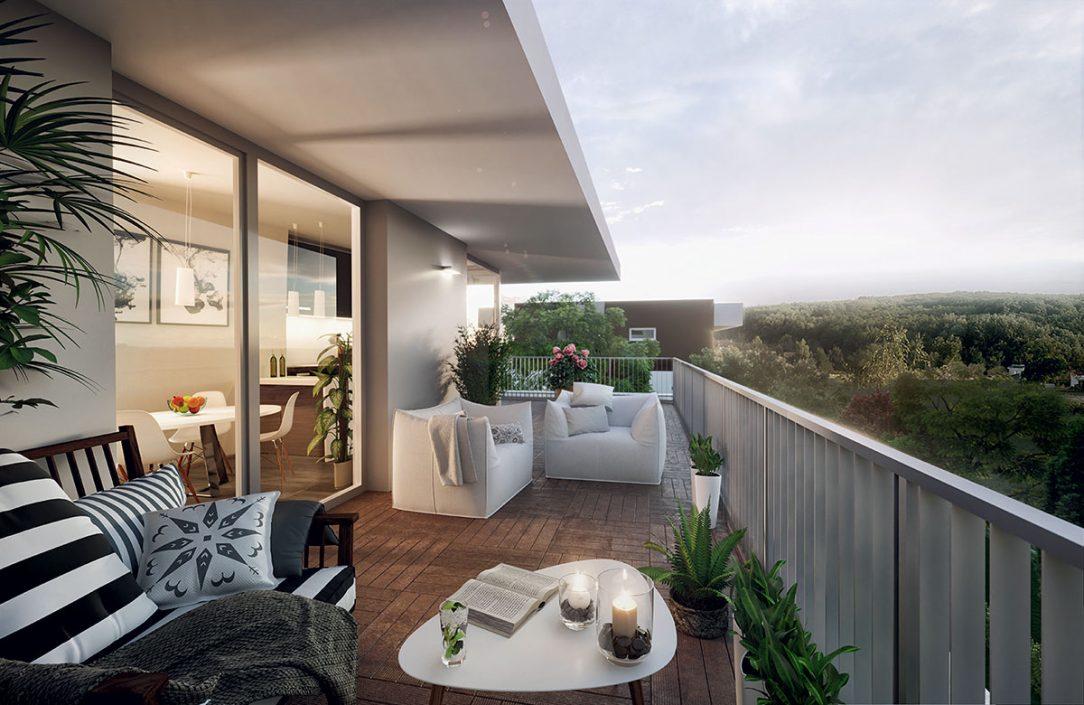Prízemné byty budú mať vlastné predzáhradky na poschodiach zas balkón alebo terasu