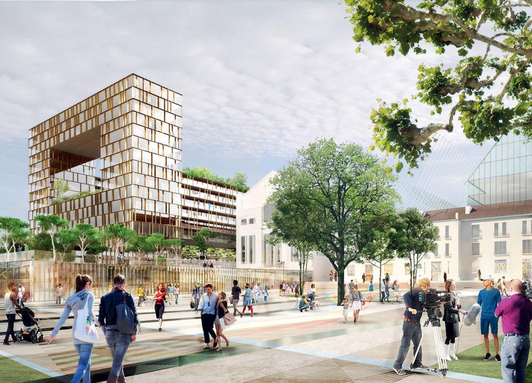 Projekt olympijskej dediny sa zameriava na industriálne dedičstvo a topografické bohatstvo územia.