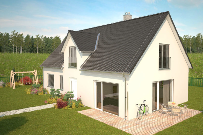 Vizualizácia stavby domu