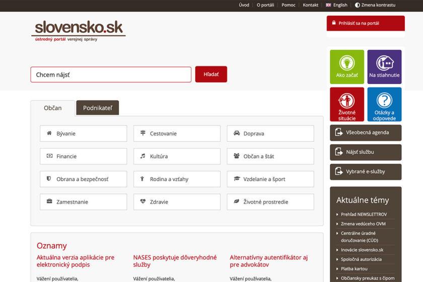 stredný portál verejnej správy slovensko.skwww .