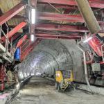 Betonárske práce v tuneli Prešov
