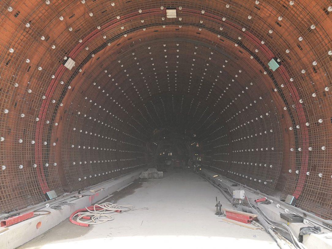Betonárske práce v tuneli Prešov 4