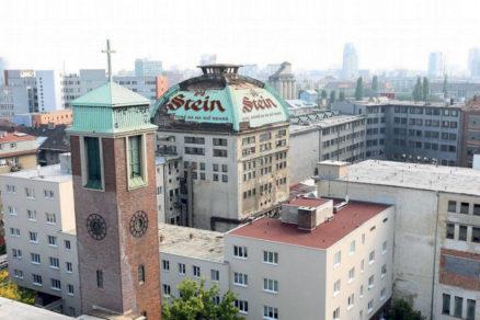 Obr. 1 Pohľad na časť areálu pivovaru Stein pred búraním