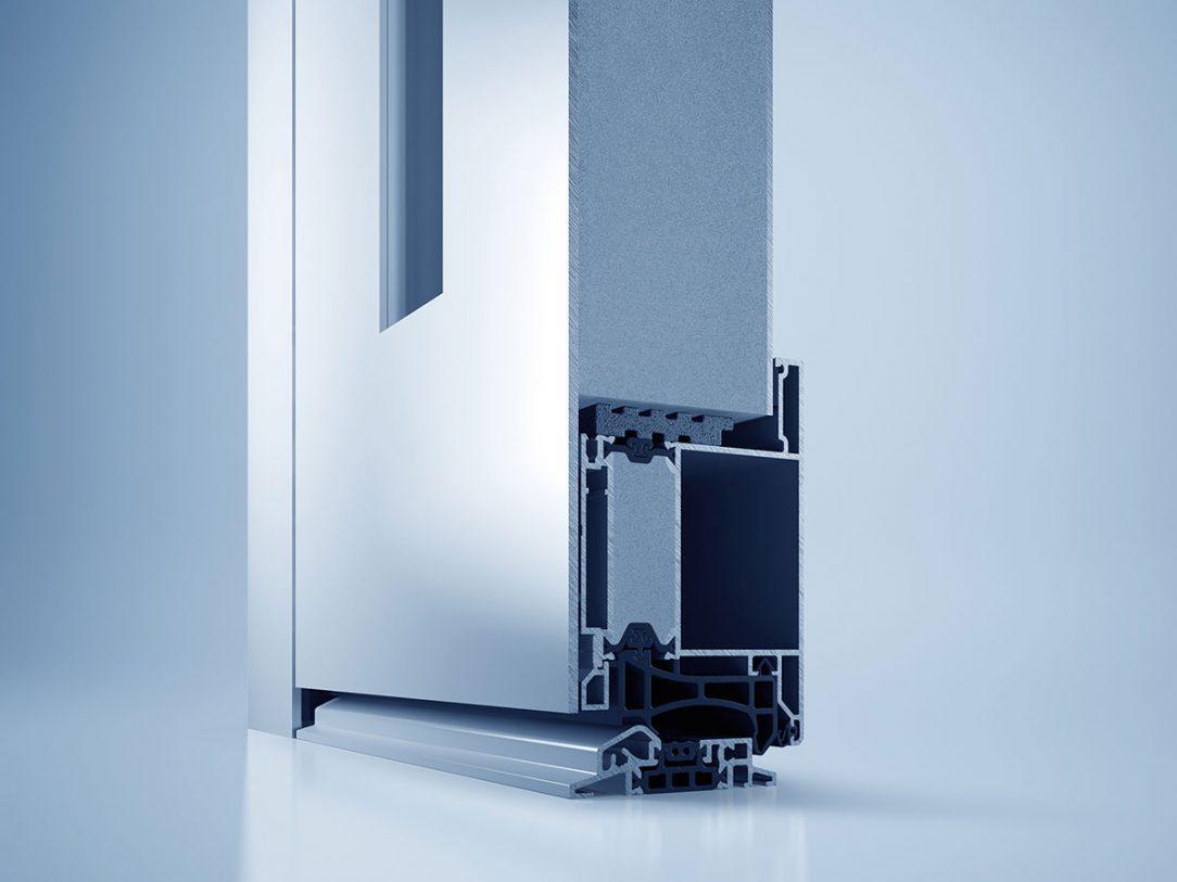 Systém domových dverí heroal D 72 s novým reverzibilným upevnením výplne