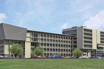 Vizualizácia rekonštrukcie budovy Krajského súdu v Košiciach