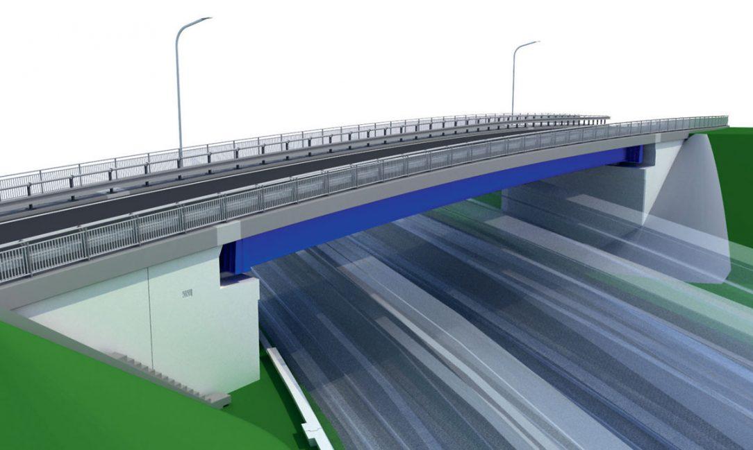 Obr. 5 Vizualizácia nového mostného objektu – pohľad od Svrčinovca Obr. 6 Vizualizácia nového mostného objektu s priehľadným zobrazením opory č. 2