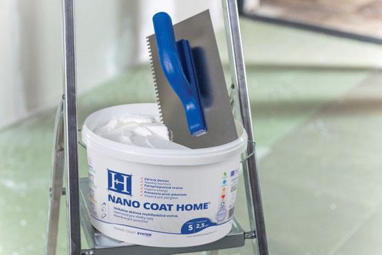 Nano Coat Home je špeciálna termoizolačná omietka pre interiér ktorá vytvára na stene aktívnu vrstvu.