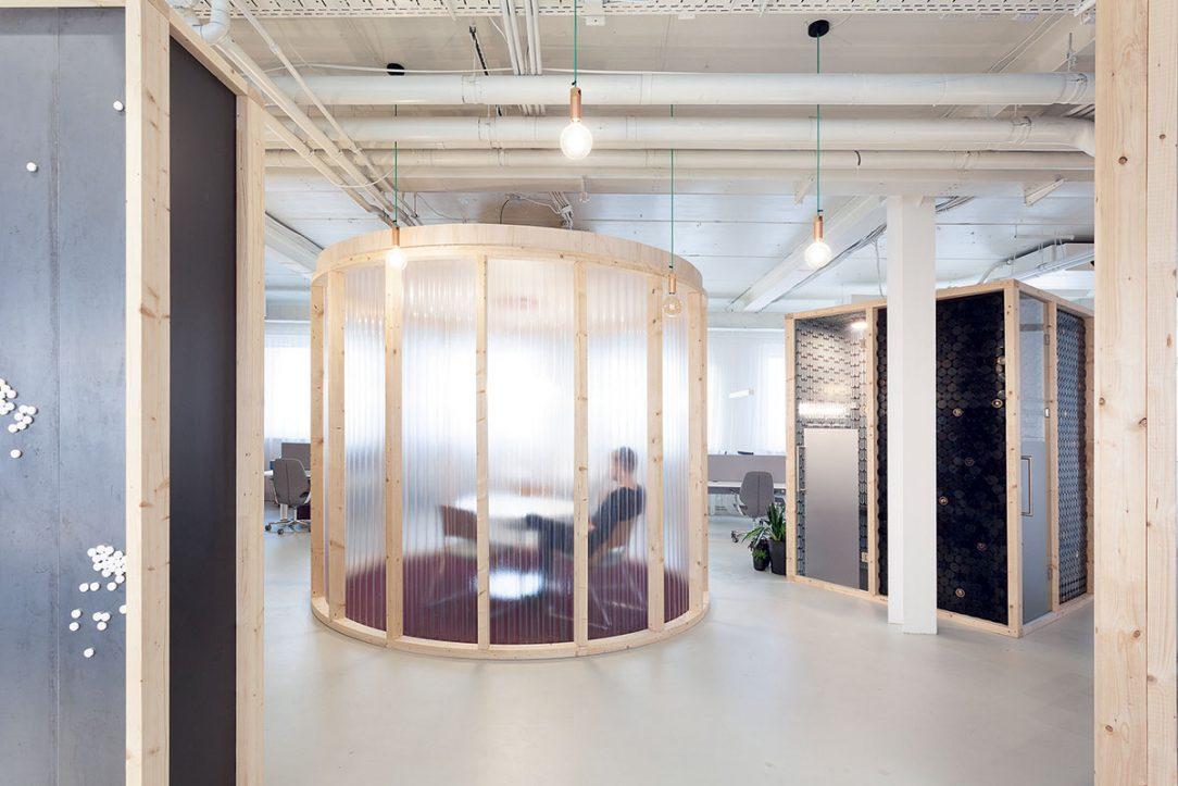 Rozmiestnenie objektov v priestore vytvára kontakt medzi zamestnancami.