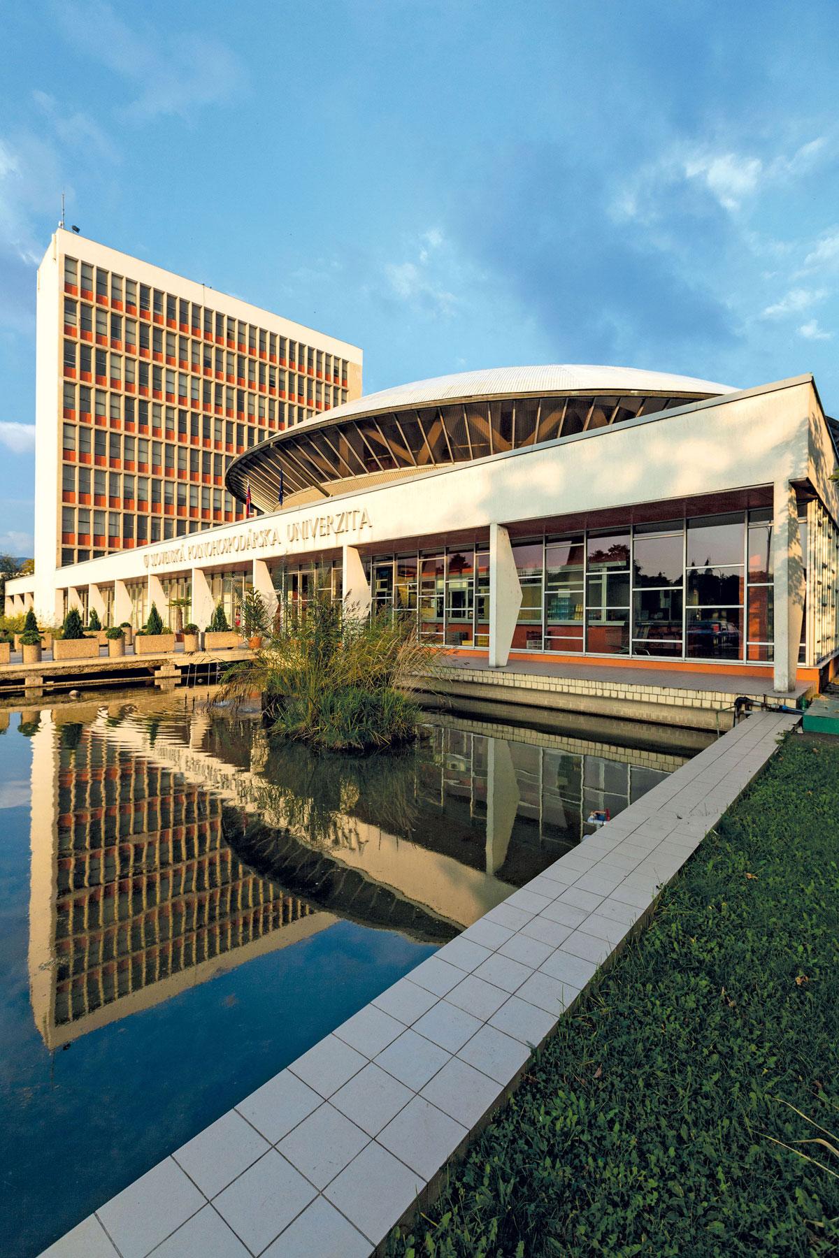 Ikonu slovenskej architektúry 60. rokov areál Slovenskej poľnohospodárskej univerzity v Nitre (1965), navrhli Vladimír Dedeček a Rudolf Miňovský .