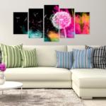 Obraz do obývačky púpava
