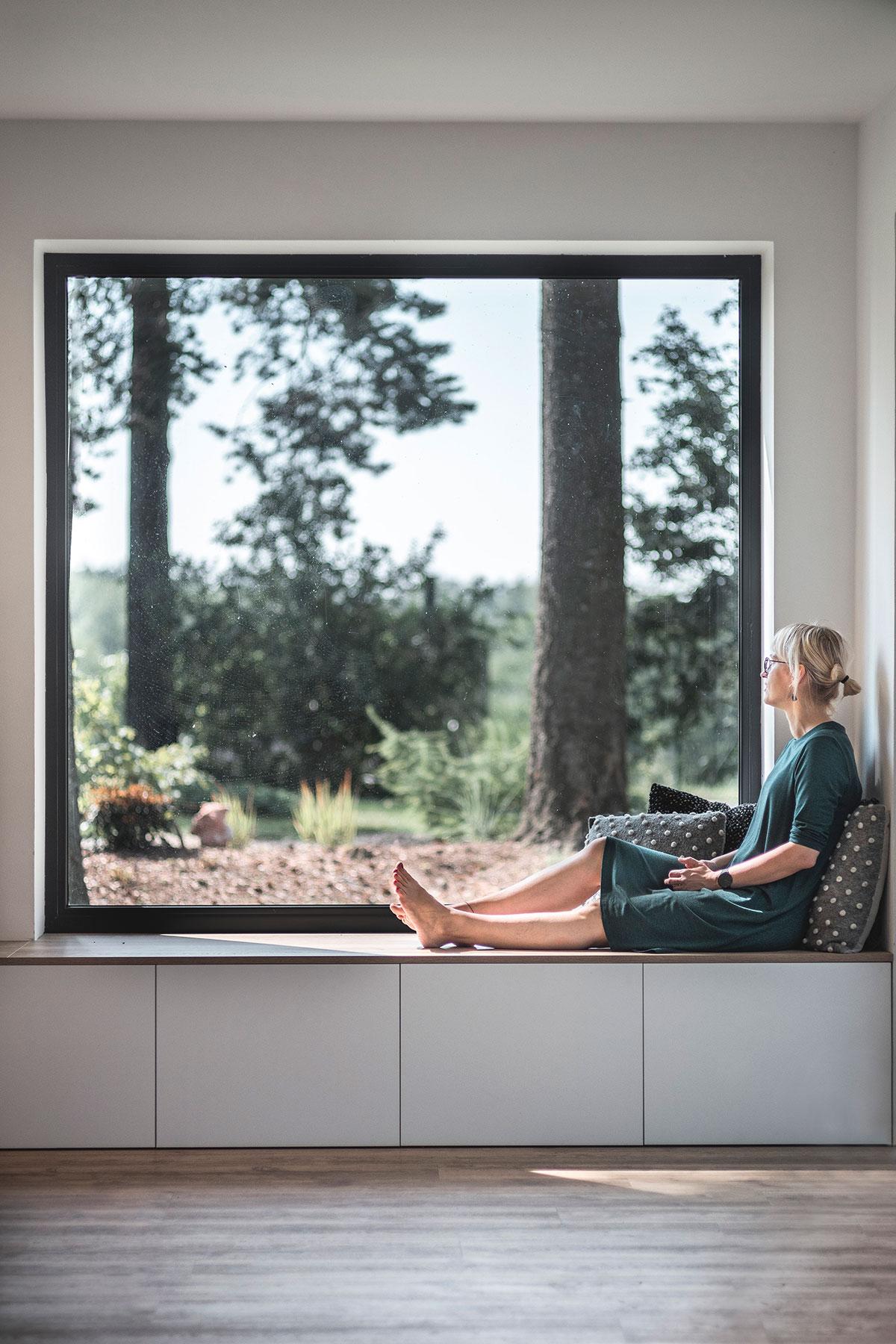 Parapet na ktorom môžu domáci relaxovať