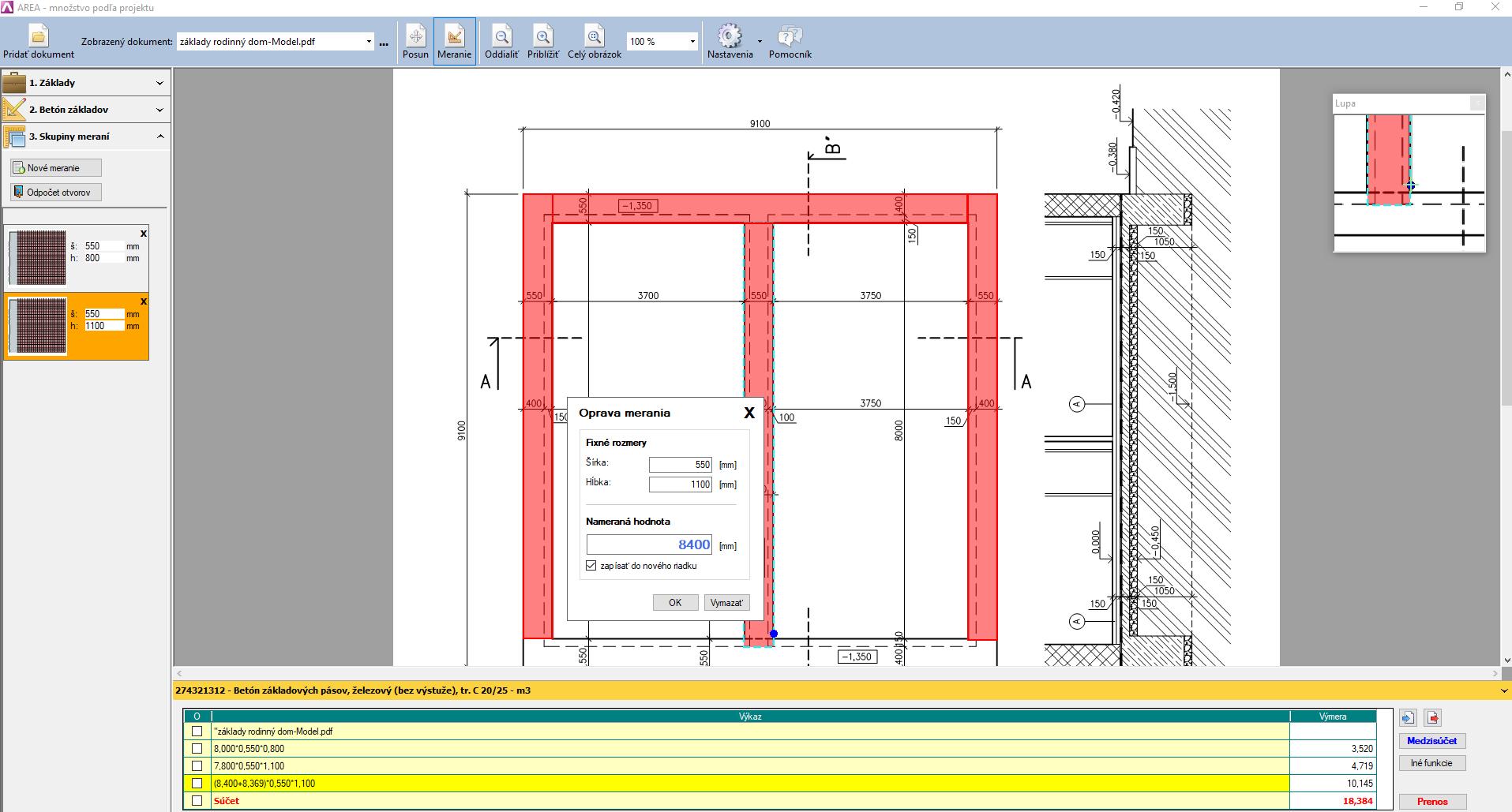 Výkaz výmer priamo z pdf formátu v programe CENKROS 4