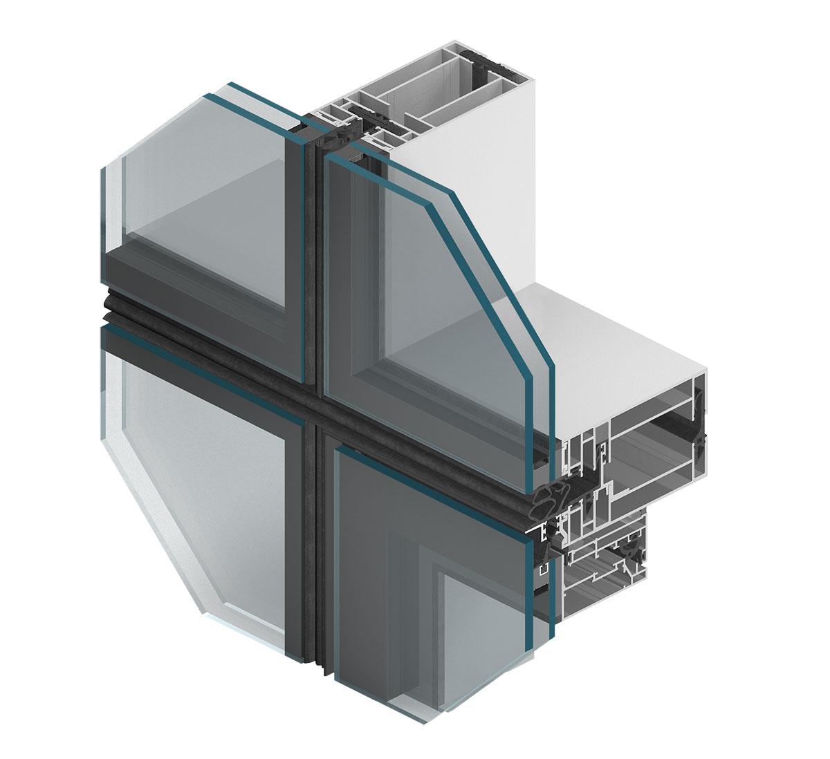Systém výplňovej prvkovej steny MBSE80.
