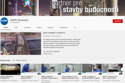 YouTube kanálu Mapei Slovensko