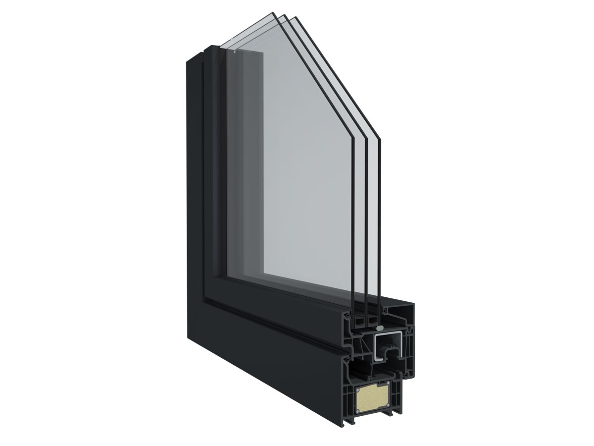 Profilový systém Elegant s použitím technológie ThermoFibra Deceuninck s
