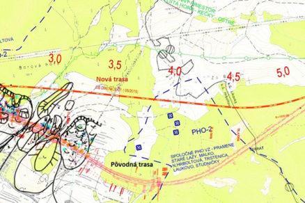 Obr. 3 Situácia pôvodnej anovej trasy diaľnice vkm 1,0 – 6,0 vrátane tunela Čebrať