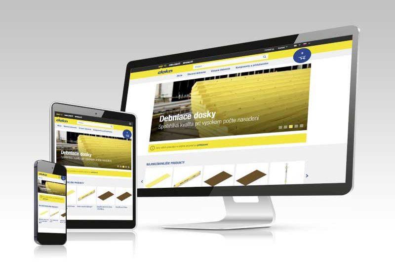 Internetový obchod Doka umožňuje zákazníkom kedykoľvek získať prístup k výrobkom spoločnosti Doka online a zakúpiť si ich.