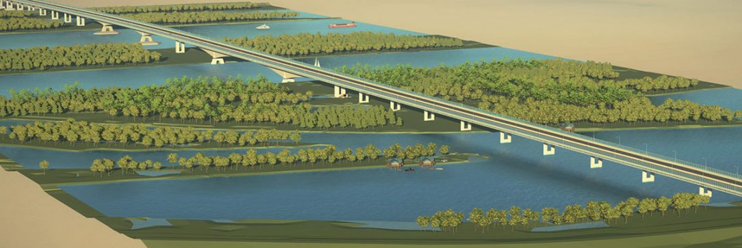 Obr. 1 Dunajské súmostie 3D model