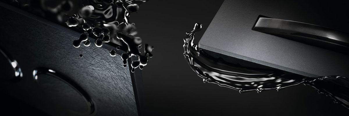 Ovládacie tlačidlá Geberit vo farbe čierny chróm