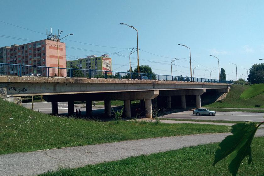 Pohľad na most pred rekonštrukciou