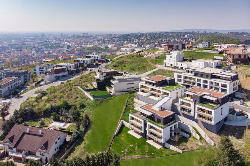 Celkový pohľad na projekt Rezidencia na Kolibe.