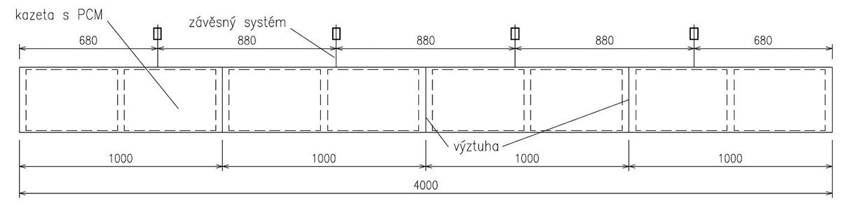 Obr. 3 Geometria plechových lamiel, do ktorých sa následne vložili kazety sPCM.