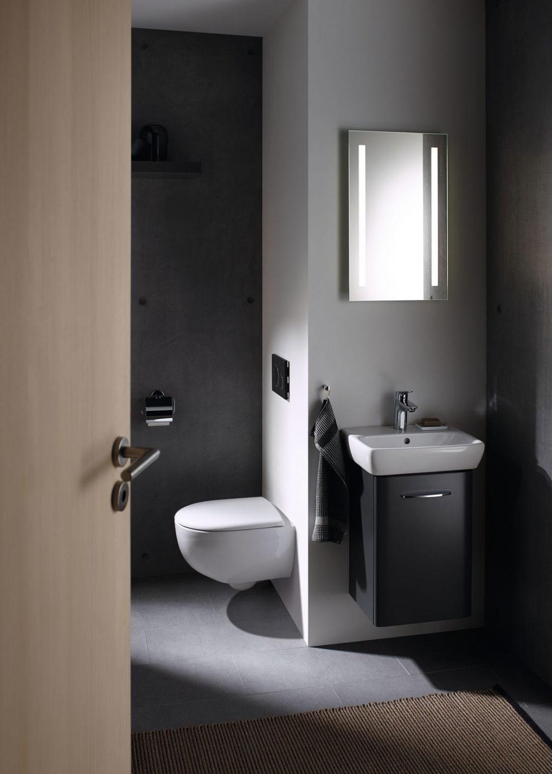 Skrátené WC Geberit Selnova Compact je ideálne do malých kúpeľní.
