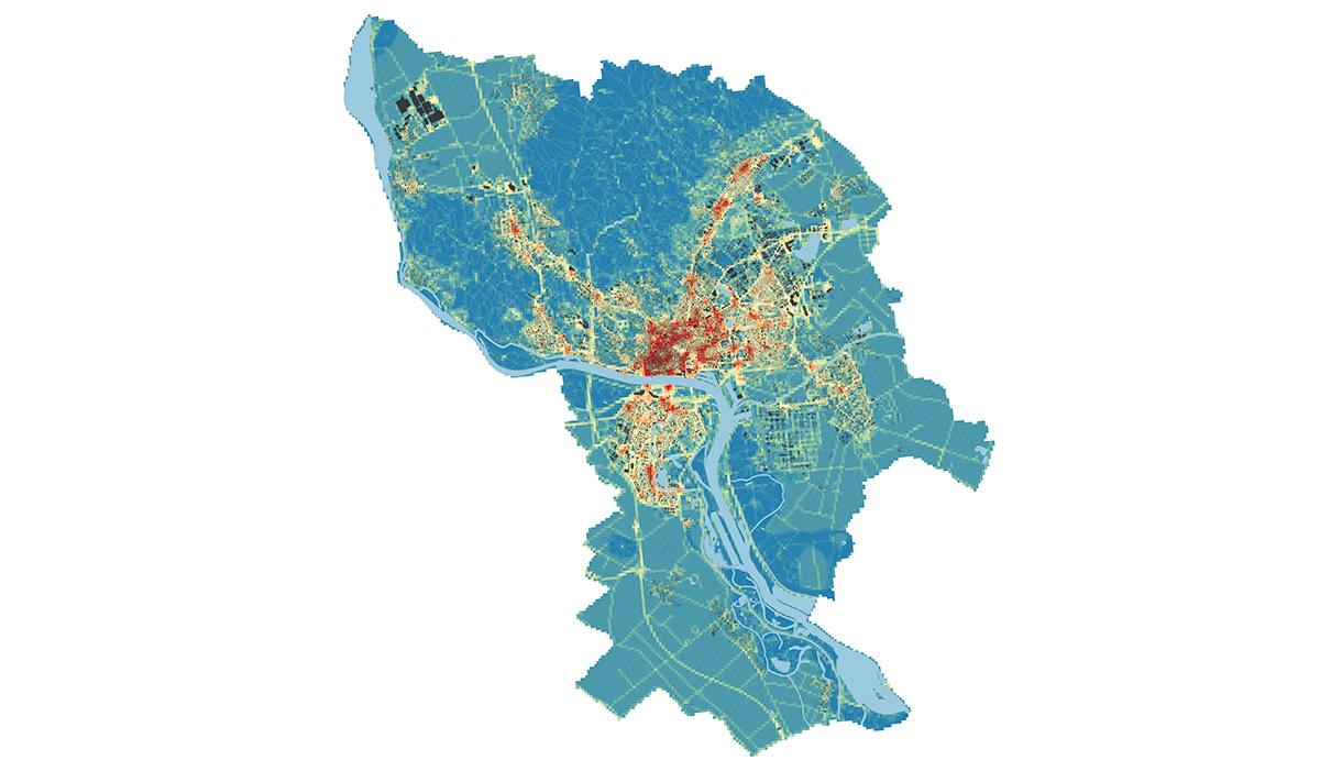 Tažiskové priestory dátová fúzia Bratislava