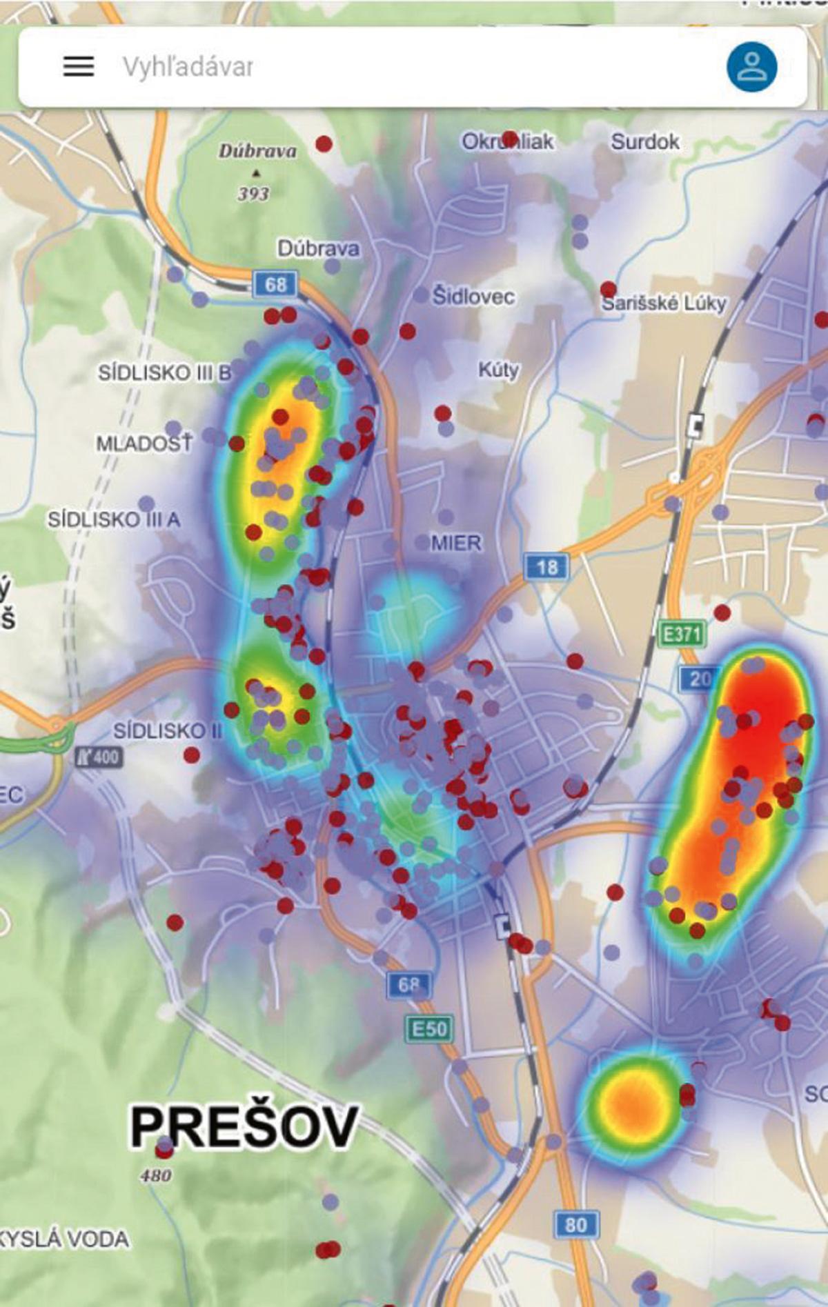 Pocitové mapy online platforma