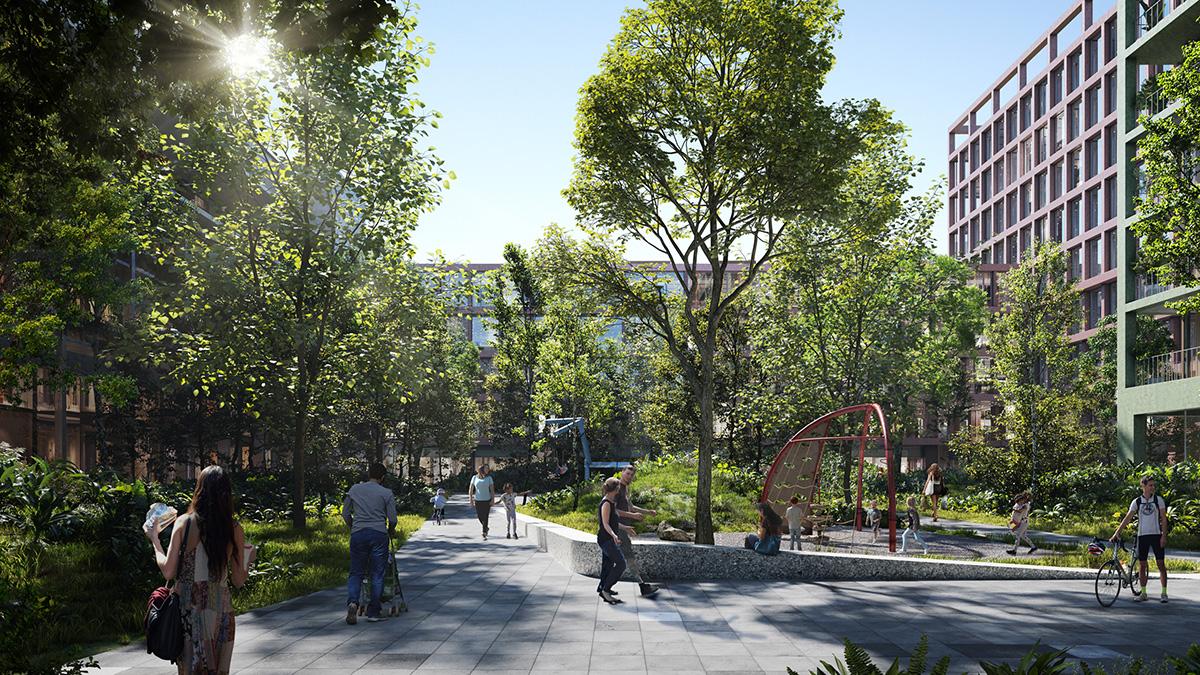 Nový Istropolis počíta s rozšírením verejných priestorov s prístupnou zeleňou až o 50 %.