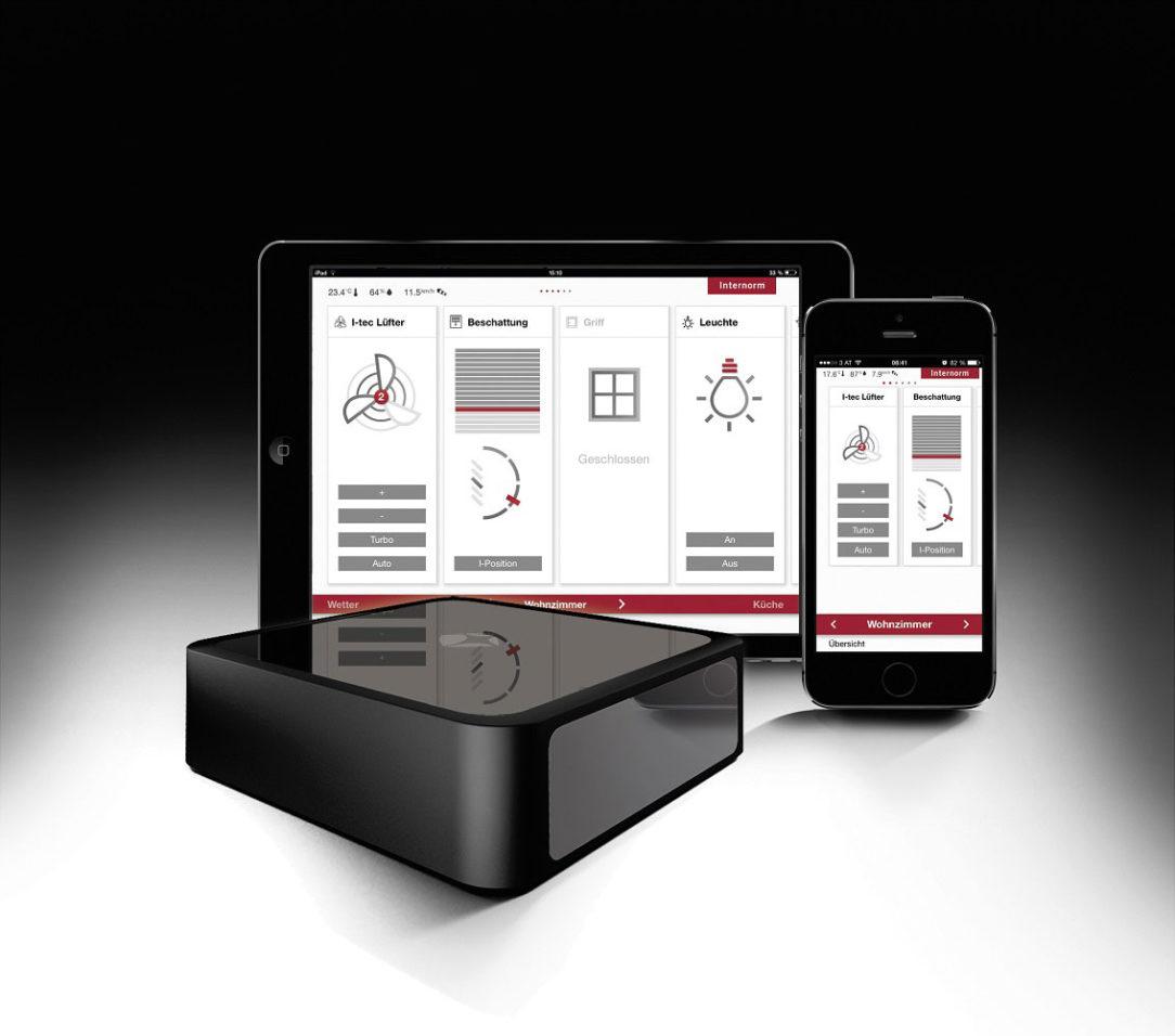 I tec Smartwindow moznosti ovladaniaiPhone iPad Gateway Internorm 1134x1000 1