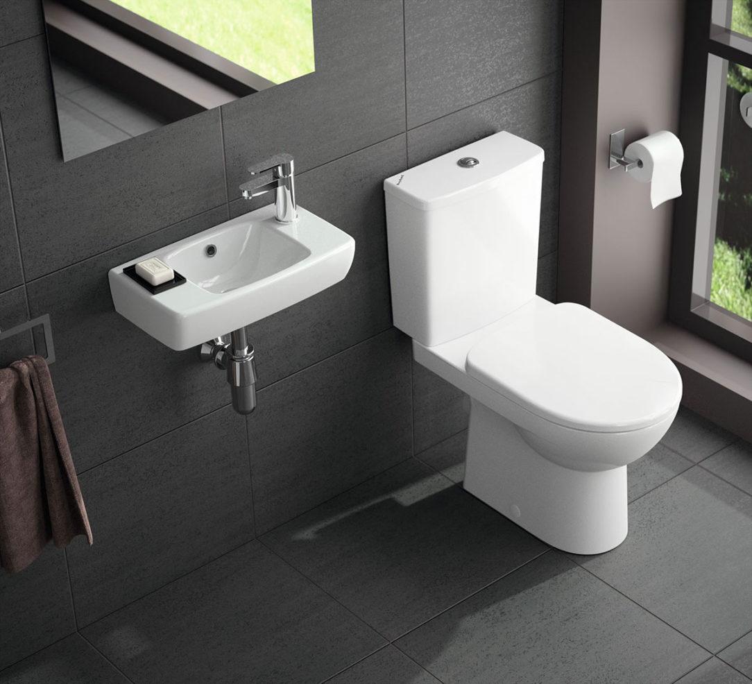 Súčasťou ponuky sú aj malé alebo rohové umývadielka a stojacie WC.
